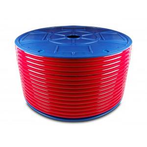 Przewód wąż pneumatyczny poliuretanowy PU 10/6,5 mm 100mb czerwony