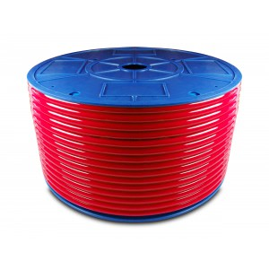 Przewód wąż pneumatyczny poliuretanowy PU 10/7,5 mm 1mb czerwony