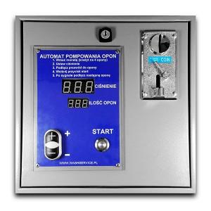 Elektroniczny Automat pompowania opon płatny monetami do montażu na ścianie