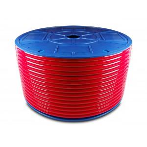 Przewód wąż pneumatyczny poliuretanowy PU 6/4 mm 100mb czerwony