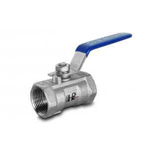 Zawór kulowy nierdzewny 1 cal DN25 z rączką 1-częściowy