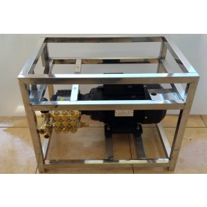 Zestaw pompa silnik stelaż myjni z osprzętem 15 l/min 130bar odpowiednik CAT350