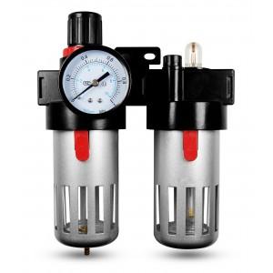 Filtr odwadniacz naolejacz reduktor FRL 1/2 cala zestaw do powietrza BFC4000