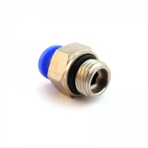 Złączka wtykowa prosta wąż 4mm gwint 1/8 cala PC04-G01