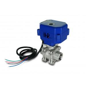 Zawór kulowy 1/2 cala wysokociśnieniowy PN125 z siłownikiem napędem A80 lub A82