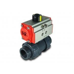 Zawór kulowy UPVC 1 1/4 cala DN32 z siłownikiem pneumatycznym AT40