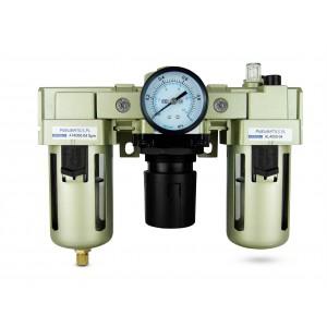 Filtr odwadniacz naolejacz reduktor FRL 1/2 cala zestaw do powietrza AC4000-04