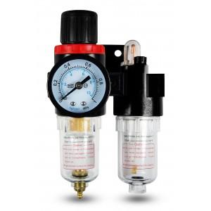 Filtr odwadniacz naolejacz reduktor FRL 1/4 cala zestaw do powietrza AFC2000