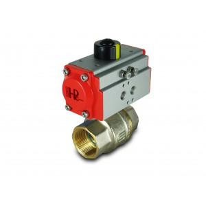 Zawór kulowy mosiężny 1 1/2 cala DN40 z siłownikiem pneumatycznym AT52