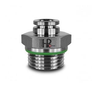 Złączka wtykowa prosta nierdzewna 10mm gwint 3/8 cala PCS10-G03