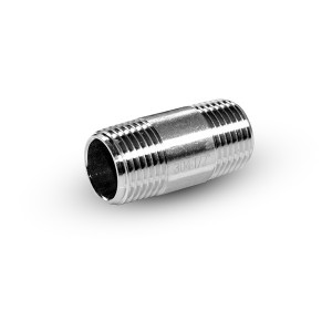 Nypel rurowy nierdzewny, króciec gz 1/4 cala 38 mm