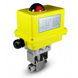 Elektrozawór kulowy 500bar 1/2 cala ss304 siłownik A250