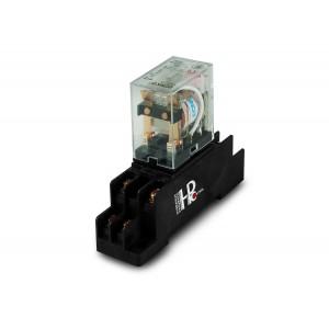 Przekaźnik 10A 2xNO/NC z podstawką na szynę DIN