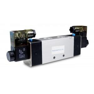 Elektrozawór 5/2 4V220 1/4 cala do siłowników 230V lub 12V, 24V