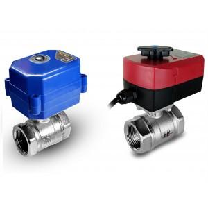 Elektrozawór kulowy 1 cal DN25 z siłownikiem napędem A80 lub A82