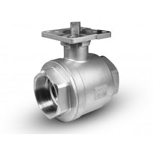 Zawór kulowy nierdzewny 1/2 cala DN15 pod siłow. ISO5211