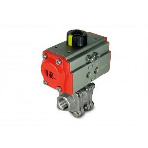 Zawór kulowy wysokociśnieniowy 1/2 cala DN15 PN125 z siłownikiem pneumatycznym AT40
