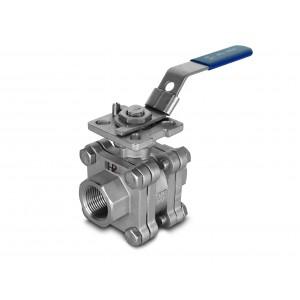 Zawór kulowy wysokociśnieniowy 1/2 cala DN15 PN125 pod napęd ISO5211