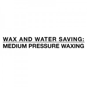 Oszczędność wosku i wody - woskowanie średnim ciśnieniem