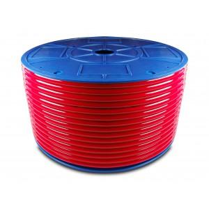 Przewód wąż pneumatyczny poliuretanowy PU 16/12 mm 1mb czerwony